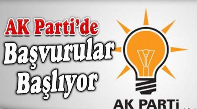 AK Partide başvurular başladı