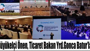 Büyükelçi Önen, Ticaret Bakan Yrd.Gonca Batur'la