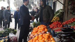 Saadet Adayı Yiğit Haleplibahçe'de esnafla buluştu