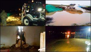 Ceylanpınar'da etkili olan yağış sele neden oldu