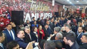 AK Partili Başkanlar tebrikleri kabul ediyorlar