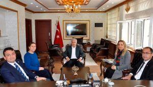 Belediye Başkanı Aksak, Kaymakam Keklik'i Ziyaret Etti