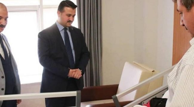 İl Başkanı Yızdız'dan hastalara ziyaret