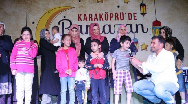 Karaköprü'de Ramazan Etkinlikleri Eğlenceli Geçiyor