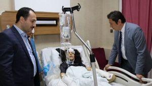 Sağlık Bakanlığı heyeti, yaralıları ziyaret etti