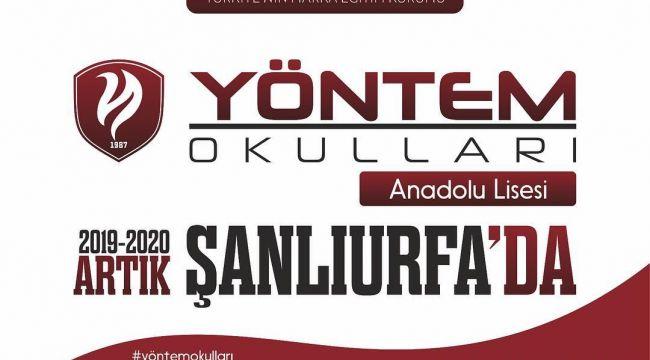 Yöntem Eğitim Okulları artık Şanlıurfa'da