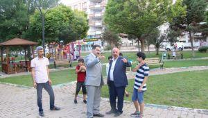Başkan Canpolat, Parkta İncelemelerde Bulundu-(VİDEOLU)