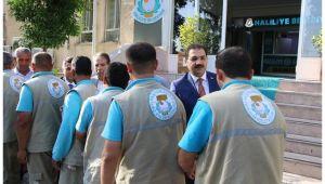 Başkan Canpolat temizlik personeli ile bayramlaştı