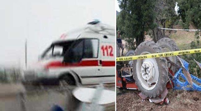 Birecik'te traktör devrildi … Sürücünün feci sonu