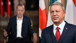 Cumhurbaşkanı Erdoğan ve Akar'dan başsağlığı mesajı