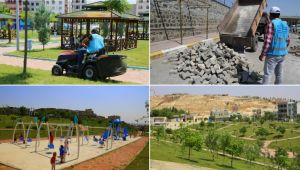 Eyyübiye Belediyesi İlçede Park Seferberliği Başlattı.