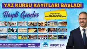 Eyyübiye Belediyesi, ilİe Gençliğini 'Yaz Kursu' Etkinliğine Bekliyor