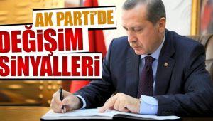 AK Parti'de değişim sinyalleri!