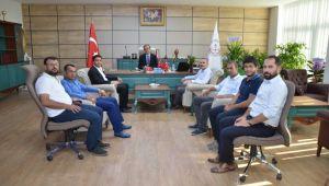 Başkan Ağan Milli Eğitim Müdürü Yapıcıer'i Ziyaret Etti