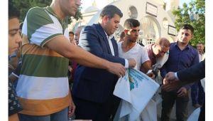 Haliliye'de 50 bin adet kurban atık poşeti dağıtıldı