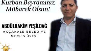 Yeşildağ'dan Kurban Bayramı mesajı
