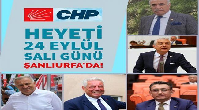 CHP milletvekilleri Şanlıurfa'ya çıkartma yapıyorlar