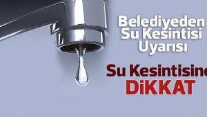 Dikkat Urfa'da sular kesilecek