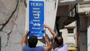 Haliliye'de Arapça tabelalar kaldırıldı
