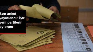 Son anket yayımlandı: İşte yeni partilerin oy oranı