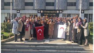 AK Kadınlardan Asker Selamlı Kan Bağışı