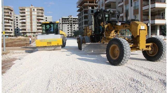 Karşıyaka Mahallesinde yeni yol yapım çalışması