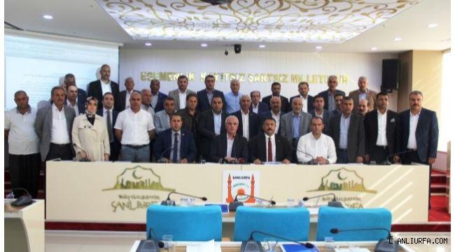 Şanlıurfa Büyükşehir meclisinden harekat bildirisi