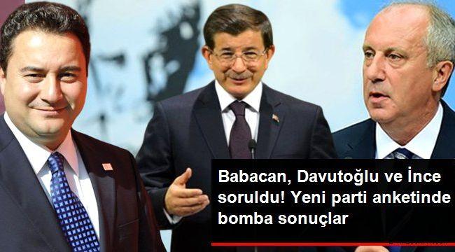 Babacan, Davutoğlu ve İnce soruldu! Yeni parti anketinde çarpıcı sonuçlar