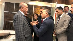 Başkan Moğal, Cumhurbaşkanı Erdogan'a Eyyübiye ilçesinin sorunlarını aktardı