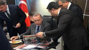 Cumhurbaşkanı Erdoğan, Büyükşehir Belediyesini ziyaret etti.