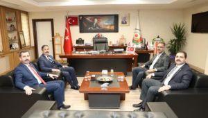 Merkez İlçe Belediye Başkanlarından Genel Sekreter Kırıkçıya Ziyaret