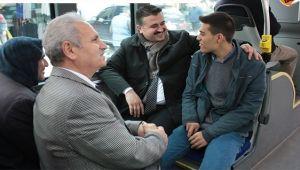 Başkan Yıldız, Halk Otobüsünde