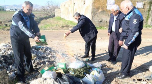 Haliliye'de tarihi geçmiş ürünler imha edildi
