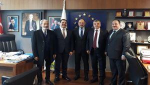 Başkan Beyazgül ve Başkanlar Gülpınar ile görüştü