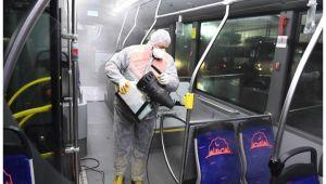 Belsan otobüslerinde hijyen ve dezenfekte ön planda