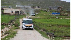 Haliliye Belediyesi dezenfekte işlemini kırsalda da sürdürüyor