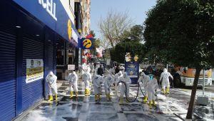 Haliliye'de sokak ve caddeler foşur foşur yıkandı