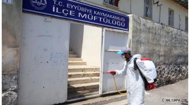Eyyübiye'de dezenfekte çalışmaları sürüyor