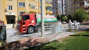 Karaköprü'de Dezenfekte Çalışmaları Devam Ediyor