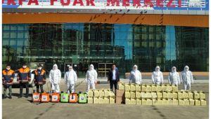 Şanlıurfa Büyükşehir Pazar Yerlerinde Ücretsiz Maske Dağıttı