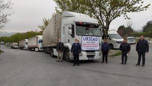 URSİAD'dan 3065 adet koli yardımı