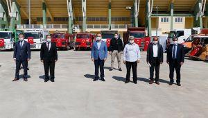 Barış Pınarı Harekatı bölgesine iş makinesi hibe edildi