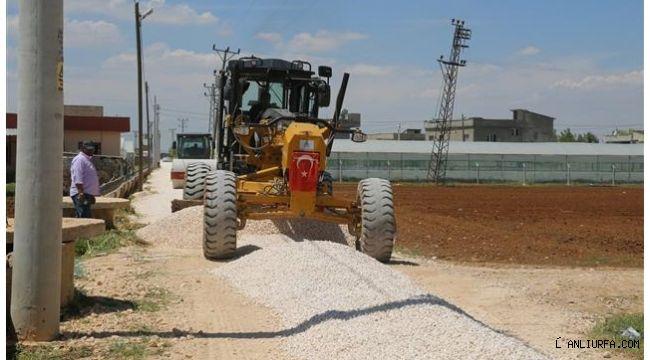 Eyyübiye Belediyesi yol yapım çalışmaları sürüyor