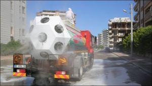 Karaköprü Belediyesi tedbiri elden bırakmıyor