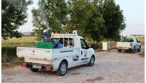 Şanlıurfa Büyükşehir Kırsalda vektörle mücadele sürüyor
