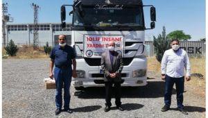 Şanlıurfa'dan Suriye'ye insani yardım malzemesi