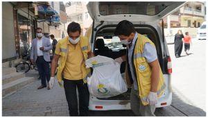 Haliliye Belediyesi'nden Karantinadaki vatandaşlara destek sürüyor