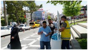 Haliliye'de halk sağlığı için maske dağıtımı sürüyor