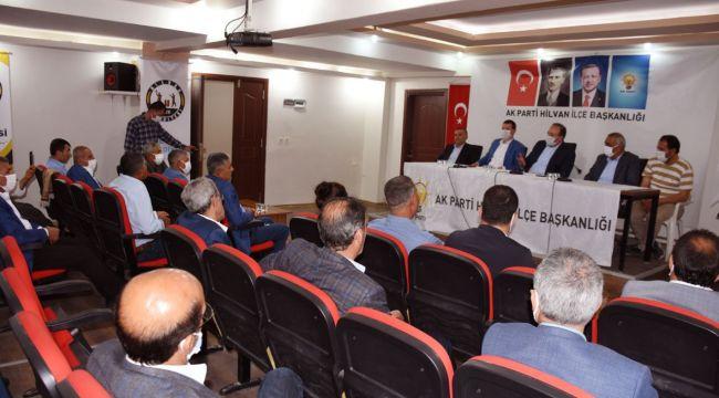 Vekil Özcan'dan Hilvan'a ziyaret