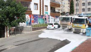 Haliliye'de cadde ve sokaklar dezenfekte ediliyor